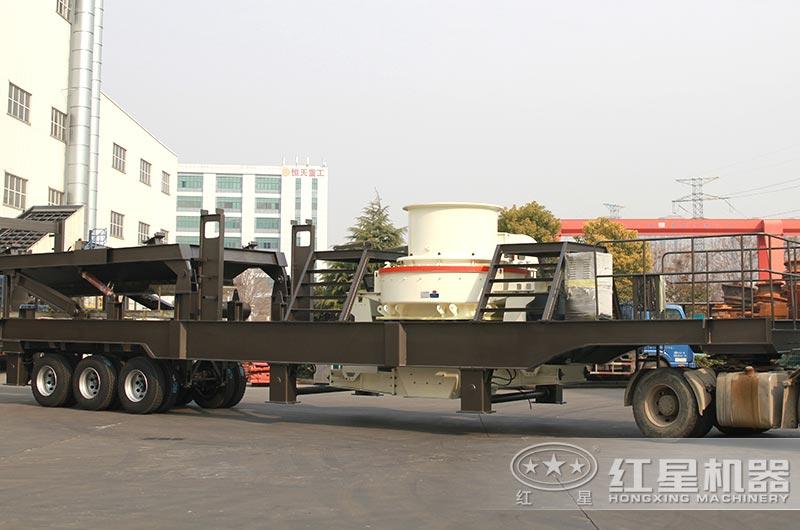 可移动式制砂机准备发货
