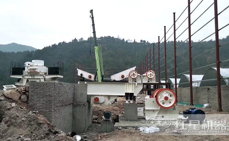 煤矸石制砂生产线安装中