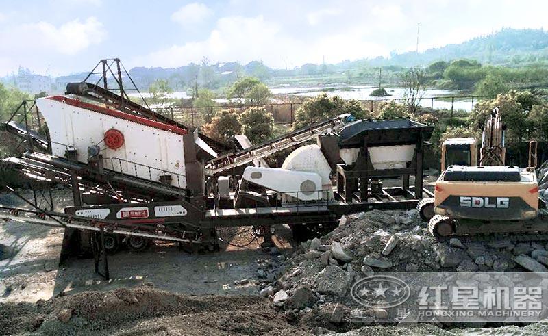 移动式煤矸石制砂生产线