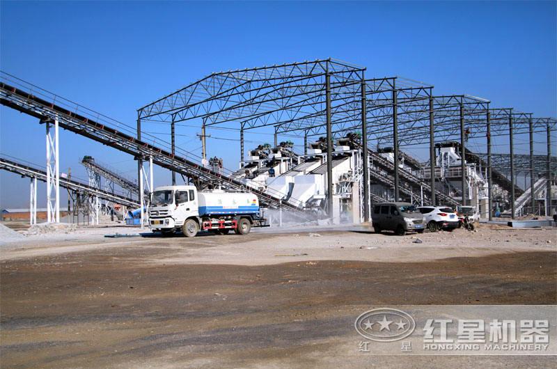 大型石料生产线现场