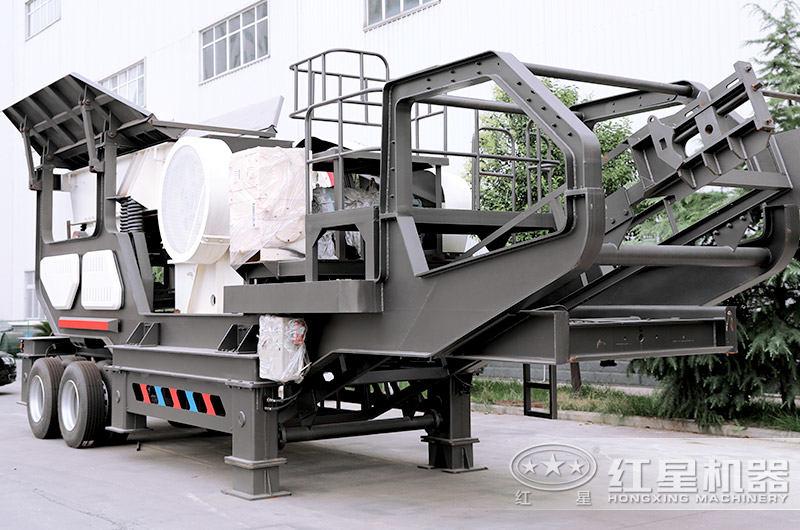 移动式小型粉碎机:移动颚式破碎机
