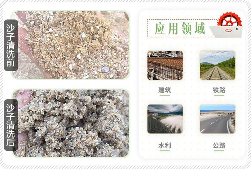 沙子清洗前后对比