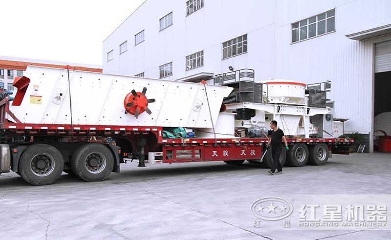 红星机器鹅卵石制砂机械设备发货中