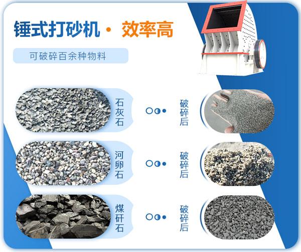 锤式打砂机适用范围较广