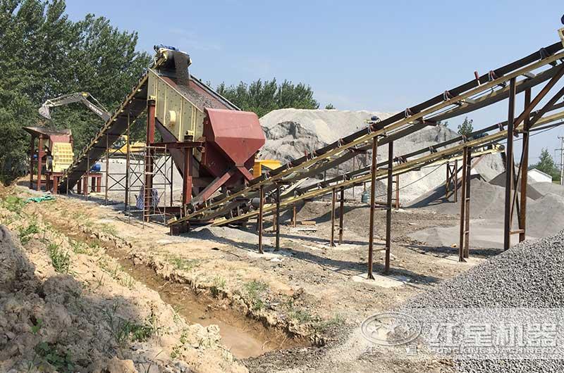 年产200万吨砂石骨料生产线现场