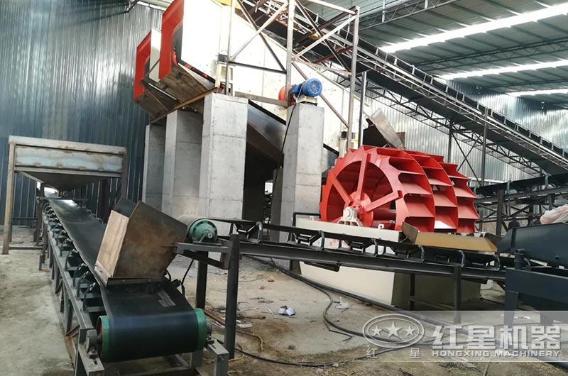 时产400吨洗砂现场