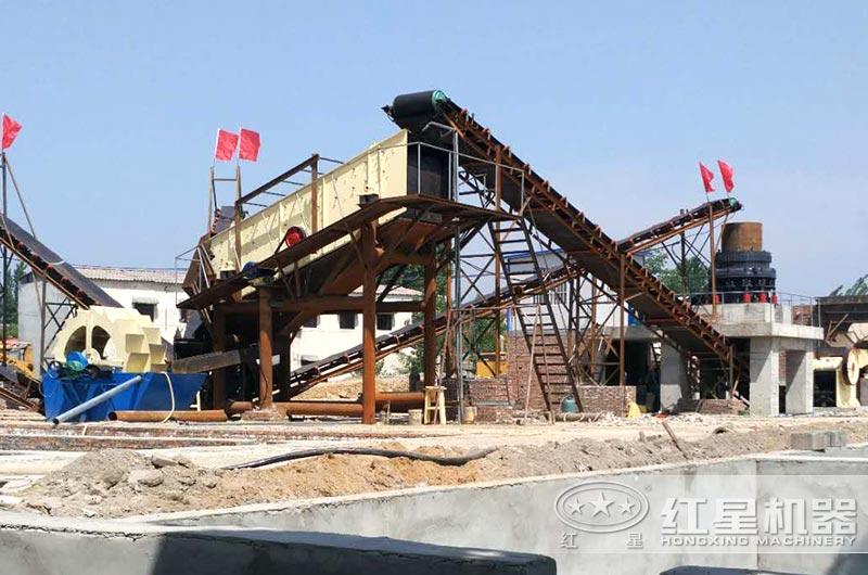 时产500吨制砂洗砂现场