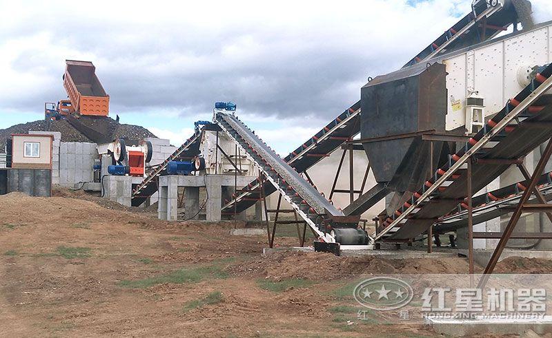 小型制砂生产现场