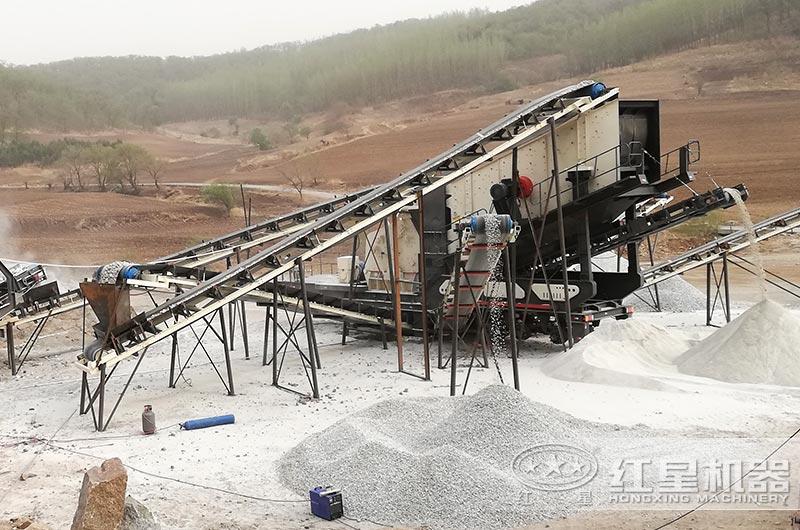移动式制砂生产现场