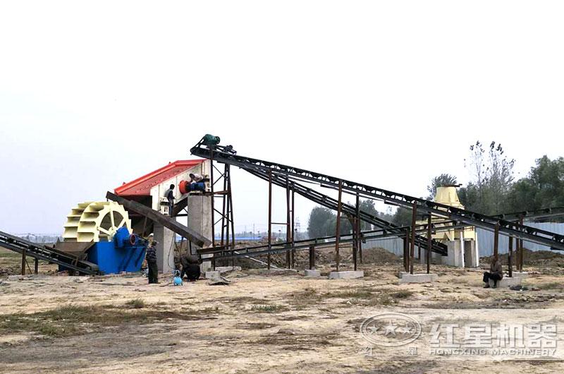 HX制砂机生产现场