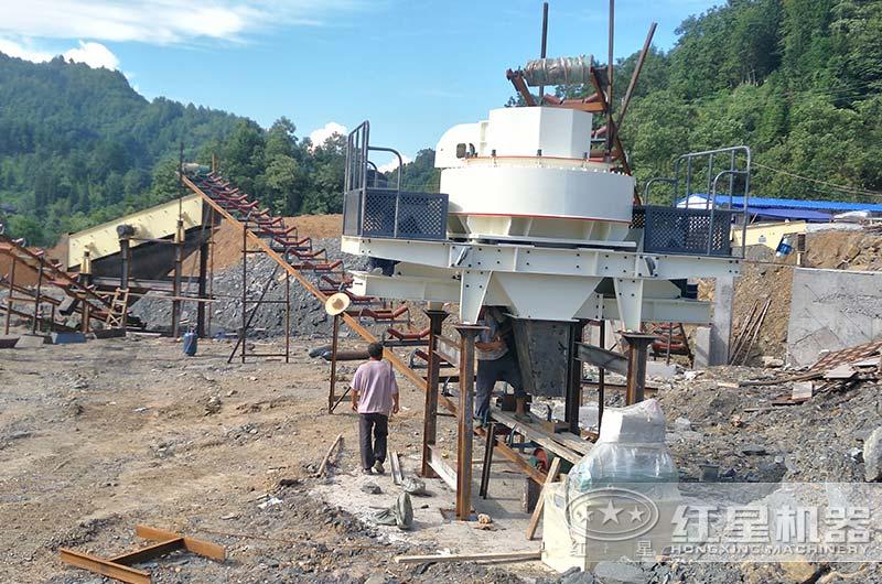煤矸石磕石机生产现场