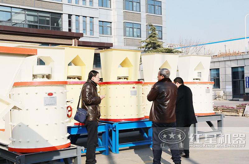 小型立轴制砂机用户来厂参观