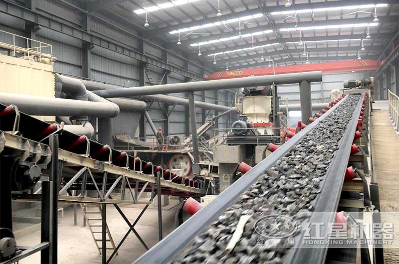 机械制砂生产现场