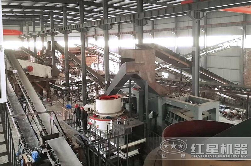 广东制砂机生产线现场