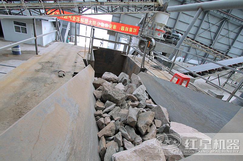 钢渣破碎加工生产现场