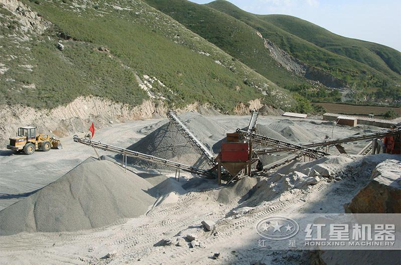 石灰石破碎机生产现场
