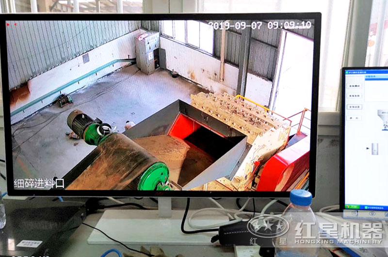 液压箱式细碎机电子屏监控