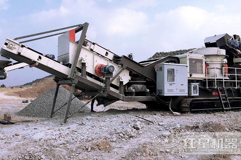 履带式移动粉沙一体机现场碎沙