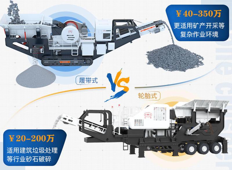 移动碎石粉沙机不同种类价格范围