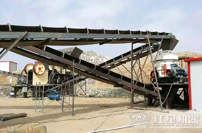 四川工业破碎机生产线现场