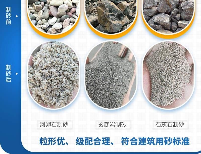 大型制砂机生产骨料品质高需求大