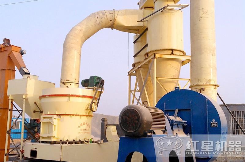 HGM超细磨生产碳酸钙现场