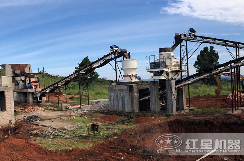 石英砂生产线现场