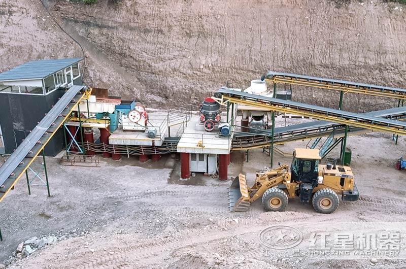 机制砂生产线现场大图