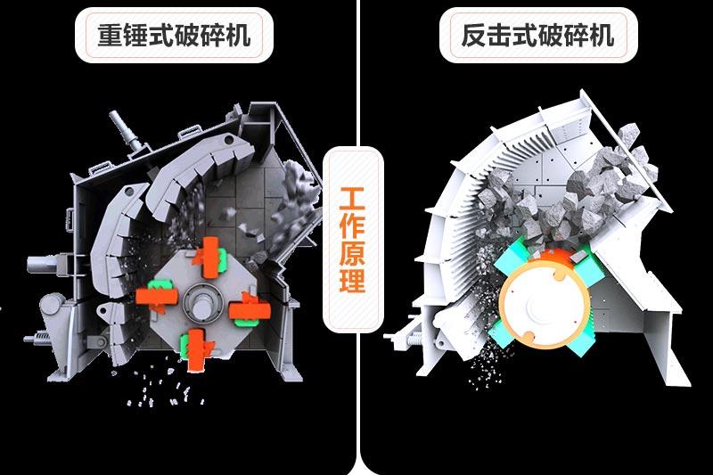 重锤式破碎机和反击式破碎机原理对比