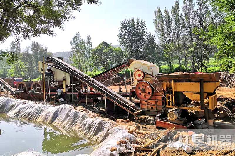 300吨洗沙机生产线蓄水池