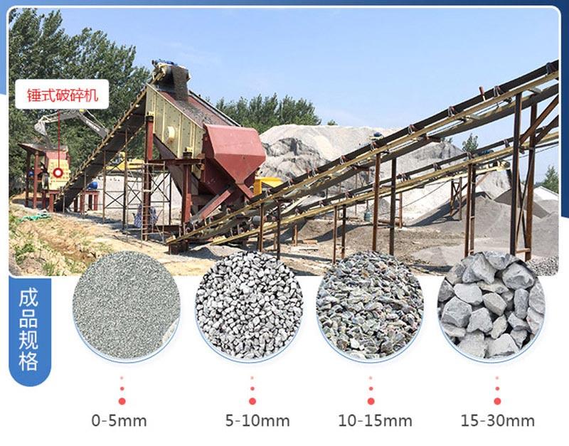 机制砂生产线现场和成品
