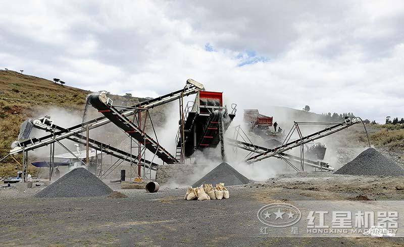 移动制砂生产机现场