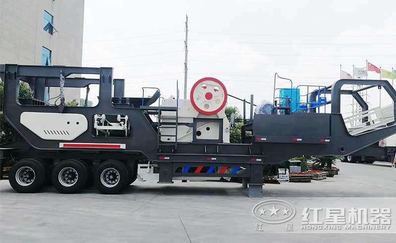 轮胎式移动建筑垃圾处理设备