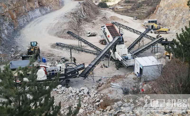 矿渣生产现场