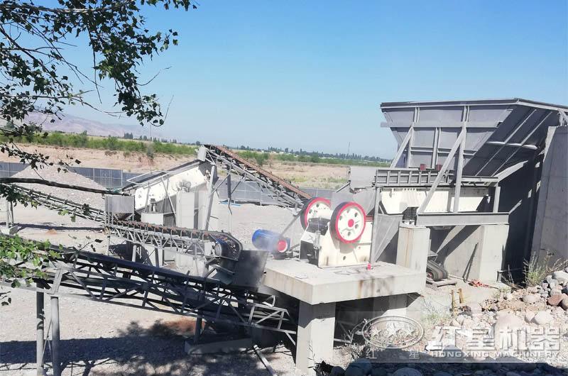鹅卵石制砂生产线现场