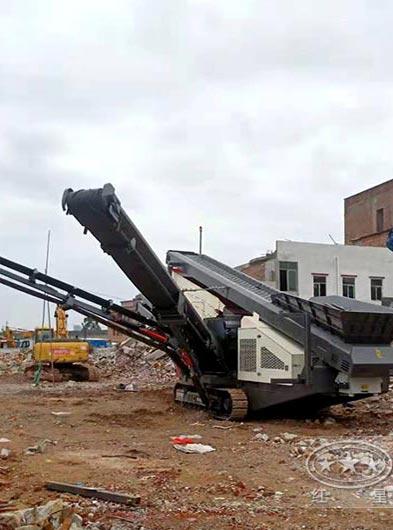 带钢筋的建筑垃圾要怎么处理,推荐一下能用的移动式粉碎机