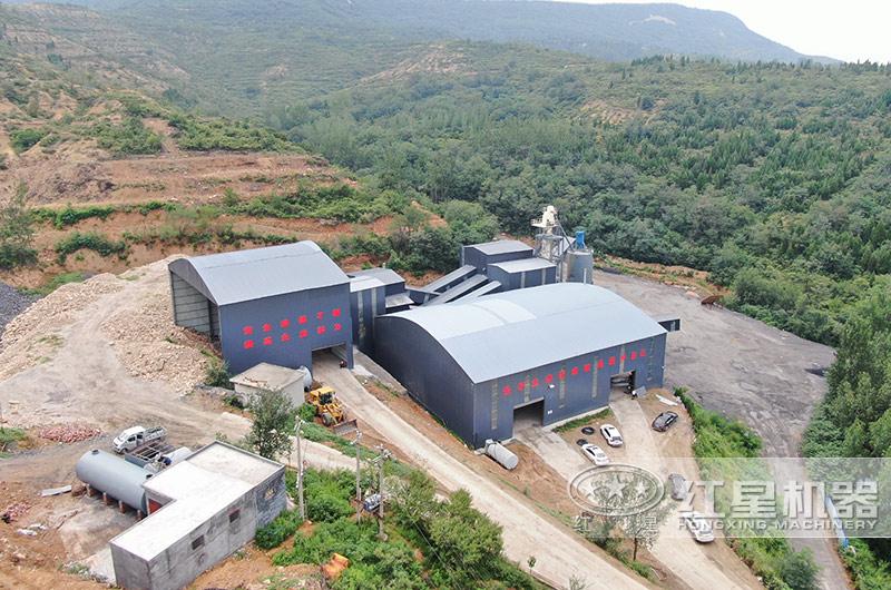 登封时产700-800吨石灰石加工厂