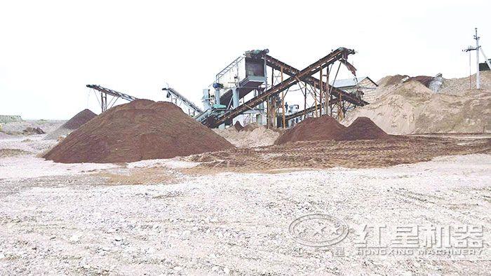 制沙生产现场