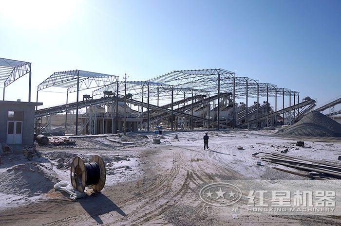 正在开办生产中的石子厂