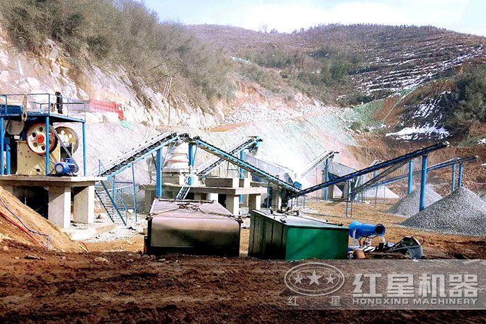 石子厂,加工硬度高的石头破碎生产方案配置现场