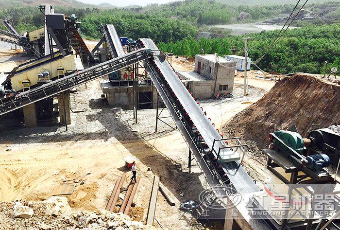 玄武岩破碎生产线—河南南阳用户现场