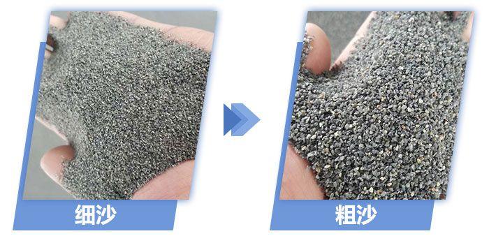 粗砂细沙对比图