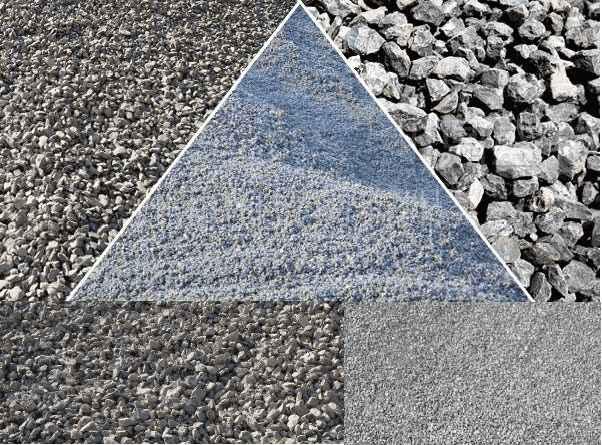 破碎后的片麻岩多种规格
