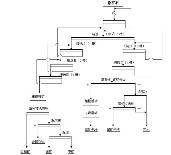 钼矿选厂选矿工艺流程的分析