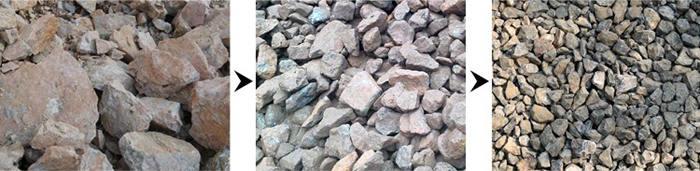 石料破碎粒度展示
