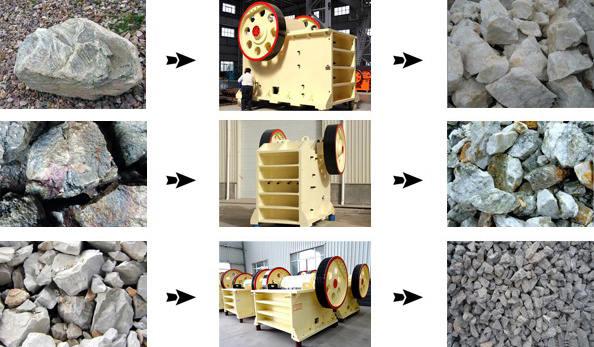 颚式可以提现的二八杠破碎石料效果