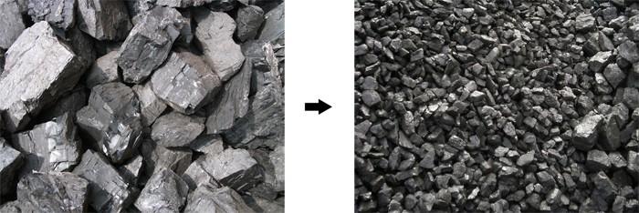 原煤破碎效果
