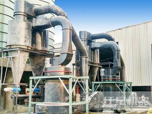 鄂尔多斯HGM130磨粉机现场作业图
