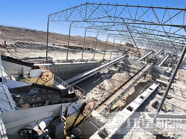 时产300-500吨石料破碎生产线现场