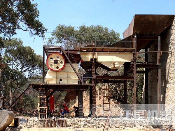 铁矿石50-1000吨/小时生产线现场作业图